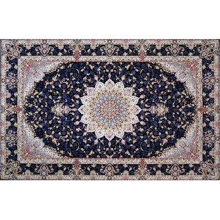 Shop For Pettway Hand Look Persian Wool Navy/Black/Beige Area Rug ByAstoria Grand