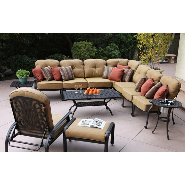 Lebanon 11 Piece Sectional Set with Cushions by Three Posts