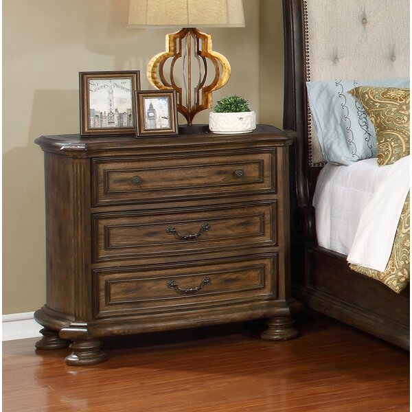 Niall 3 Drawer Nightstand by Charlton Home