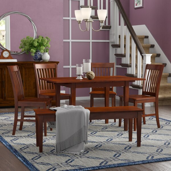 Balfor 6 Piece Extendable Solid Wood Breakfast Nook Dining Set by Andover Mills Andover Mills