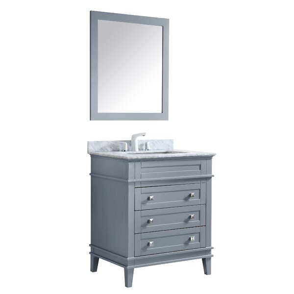 Yves 30 Single Bathroom Vanity Set with Mirror by Darby Home Co