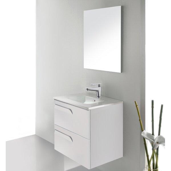 Vitale 24 Single Bathroom Vanity Set with Mirror by Dawn USA