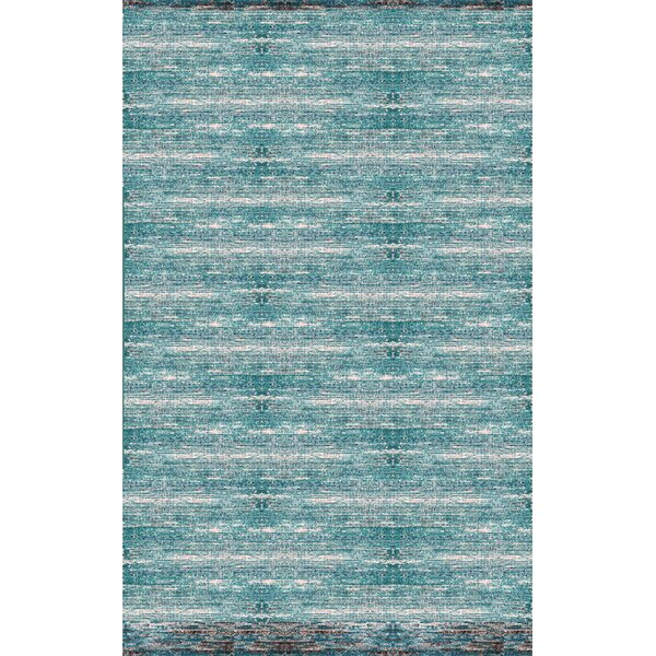 Cadwell Teal/Chocolate Area Rug by Bungalow Rose