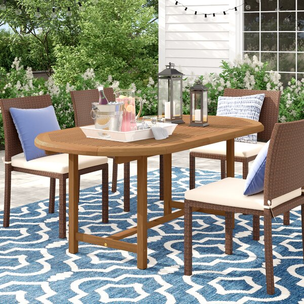 Brighton Extendable Wood Dining Table by Sol 72 Outdoor