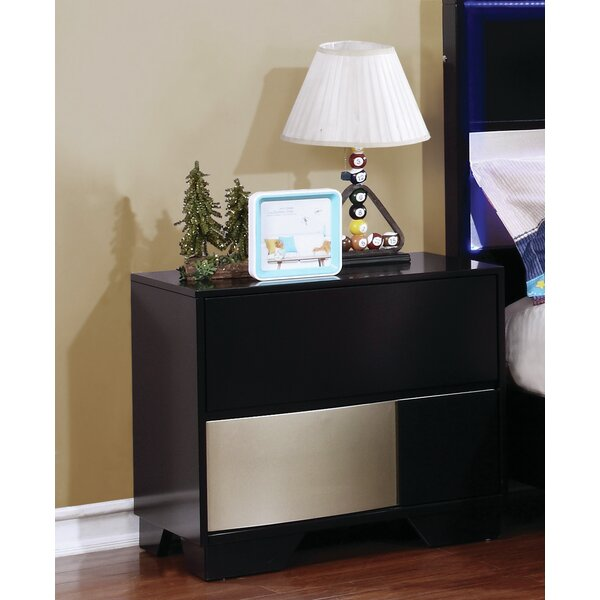 Dawna 2 Drawer Nightstand by Orren Ellis
