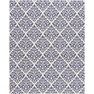 Reviews Bolivia White/Blue Area Rug By Rosdorf Park