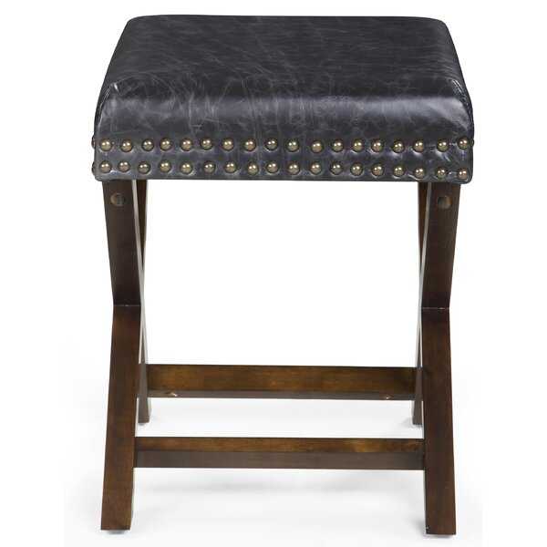 Melendy Leather Ottoman by Wrought Studio