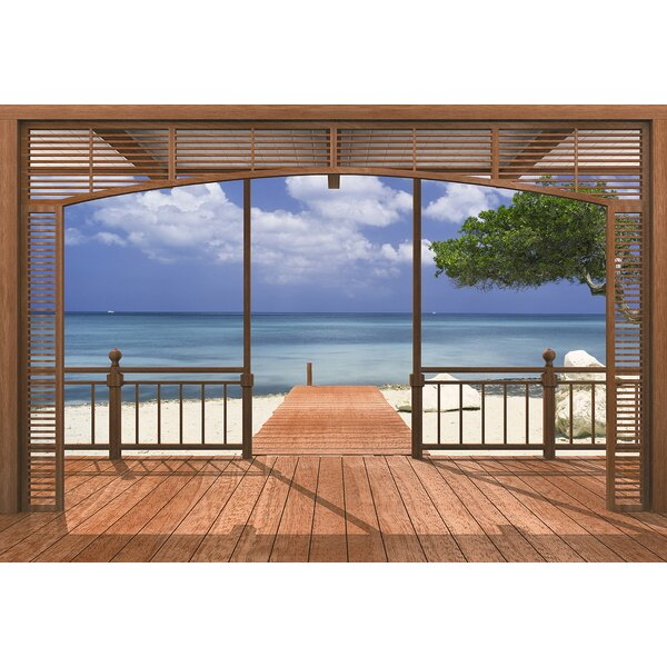 Florida El Paradiso 8-Panel Wall Mural by Bay Isle Home