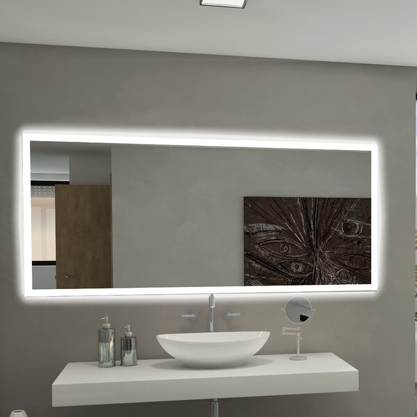 Rectangle Backlit Bathroom/Vanity Mirror by Paris Mirror