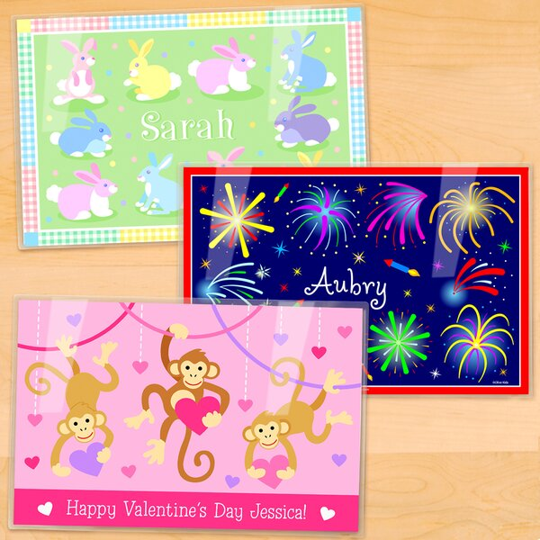 Holiday 3 Piece Personalized Placemat Set by Olive Kids