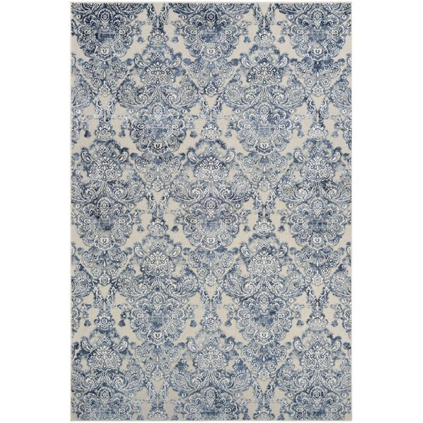 Amethyst Woven Blue/Gray Area Rug by Ophelia & Co.