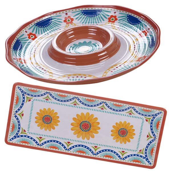 Fullilove 2 Piece Melamine Platter Set by August Grove
