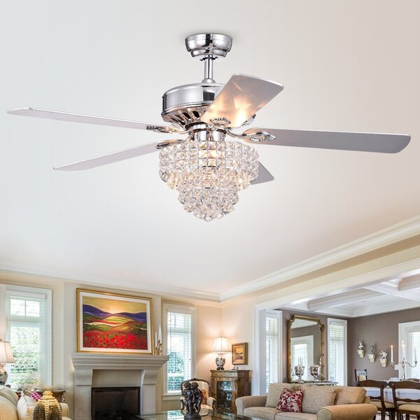 52 Gale 5 Blade Ceiling Fan with Remote by House of Hampton