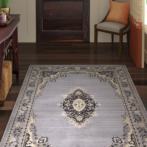 Britain Gray Area Rug by World Menagerie