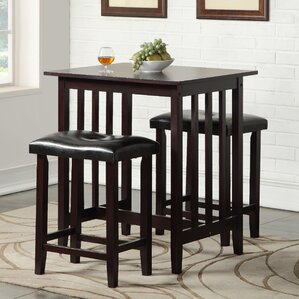 Richland 3 Piece Counter Height Pub Table Set : kitchen table bar stools - islam-shia.org
