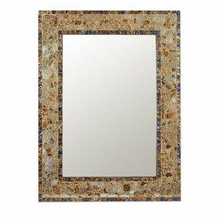 Fleur De Lis Living Petrie Persian Mosaic Glass Metallic Accent Mirror