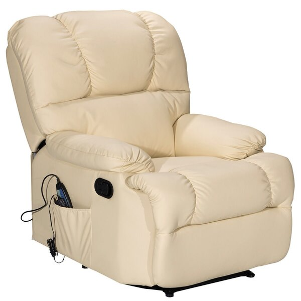 Lovetto Faux Leather Manual Recliner with Massage W003009374