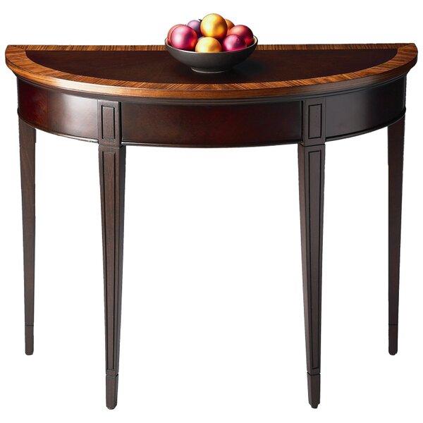 Cherry Nouveau Demilune Console Table By Butler