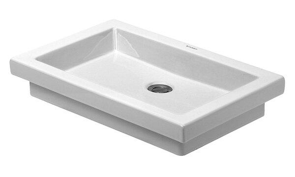 2nd Floor Ceramic Rectangular Drop-In Bathroom Sink by Duravit