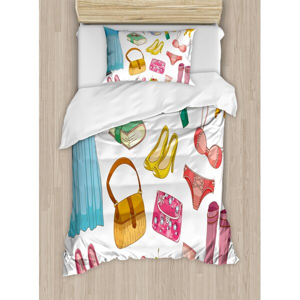 Heels and Dresses Duvet Cover Set by Ambesonne