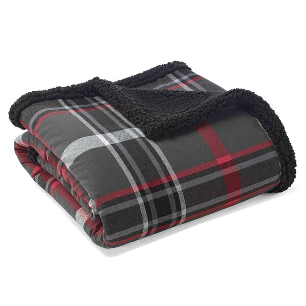 Winslow Sherpa Fleece Cotton Throw by Eddie Bauer