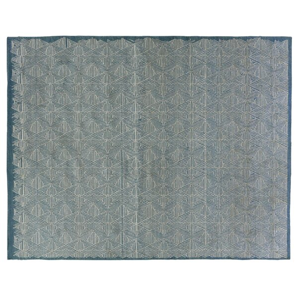 Pavilion Flat Wool Blue/Silver Area Rug by Exquisite Rugs