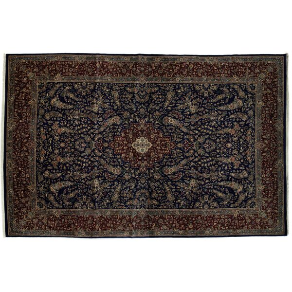One-of-a-Kind Tabriz Hand-Knotted Black Area Rug by Darya Rugs