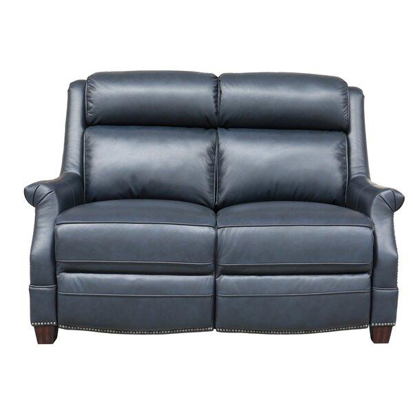 Cheadle Genuine Leather Reclining Loveseat By Orren Ellis