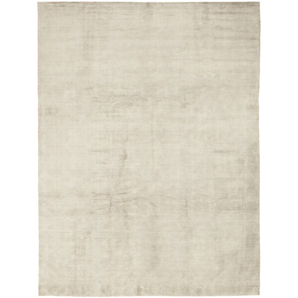 One-of-a-Kind Morphew Hand-Knotted Wool/Silk Beige Indoor Area Rug by Gracie Oaks