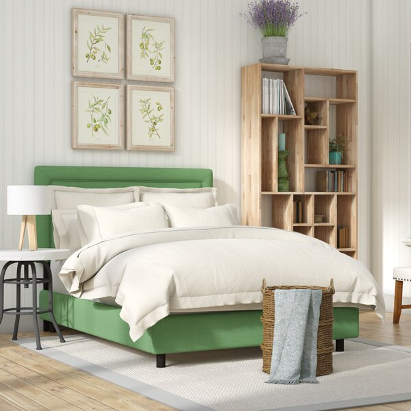Danette Border Linen Upholstered Standard Bed by Laurel Foundry Modern Farmhouse