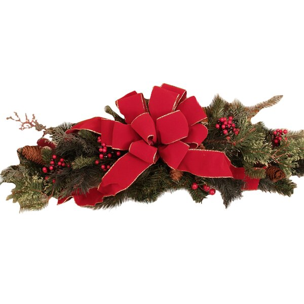 Pine and Berry Centerpiece by Floral Home Decor