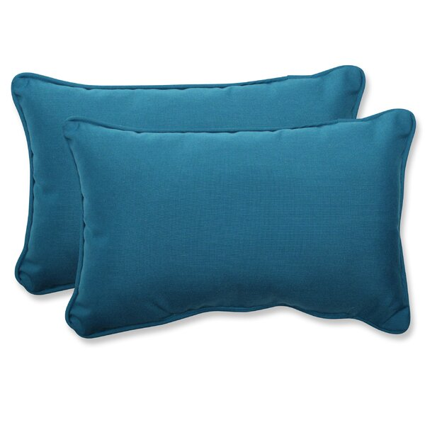 Spectrum Indoor/Outdoor Sunbrella Lumbar Pillow (Set of 2) by Pillow Perfect