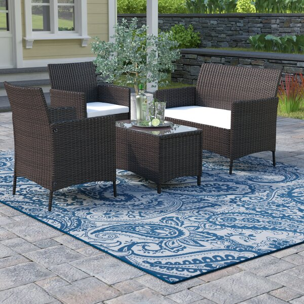 Avalon 4 Piece Rattan Sofa Seating Group with Cushions by Winston Porter