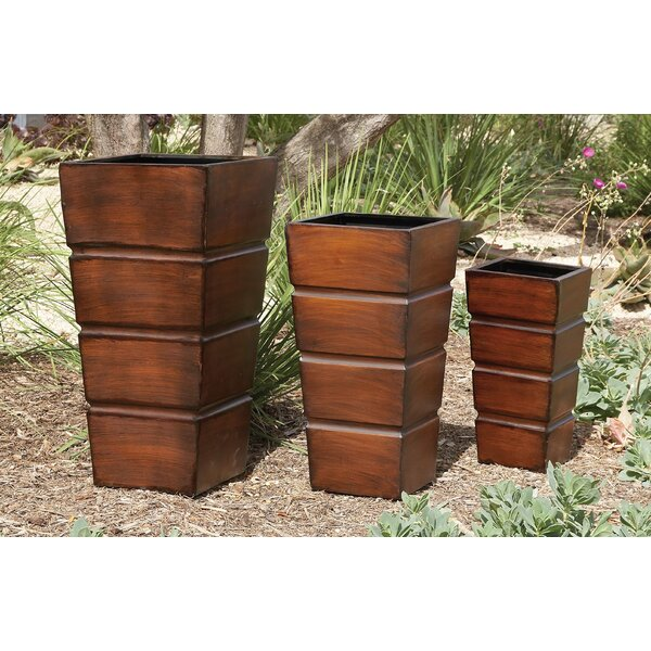 3-Piece Iron Pot Planter Set by Cole & Grey