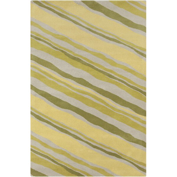 Millwood Hand Tufted Wool Green/Yellow Area Rug by Latitude Run