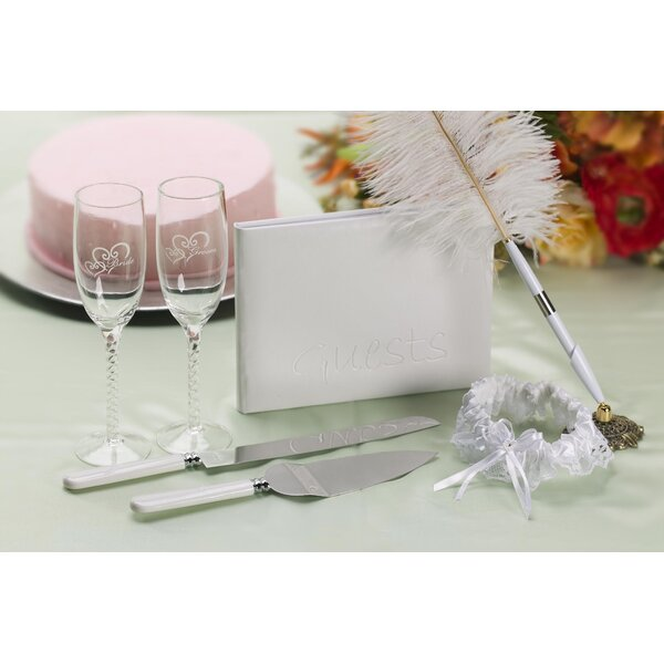 Elizabeth Street Bridal 8 Piece Guest Book Set by The Holiday Aisle