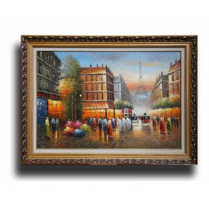 Paris Street' Framed Painting by Greenville Signature