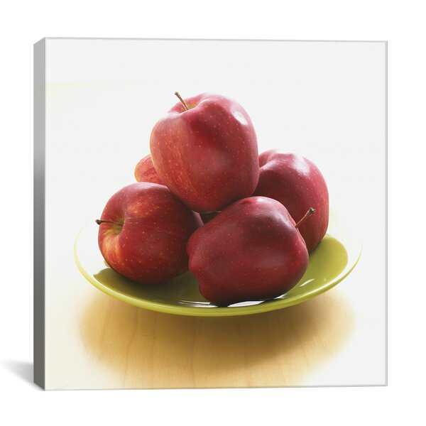 Food and Cuisine Red Apples on a Plate Photographic Print on Canvas by iCanvas