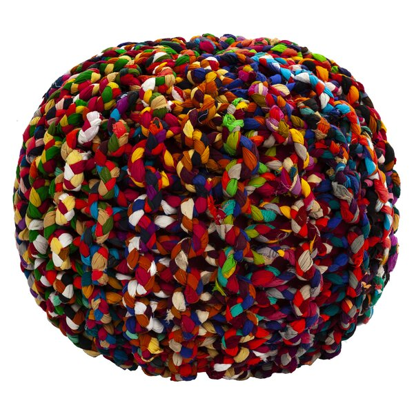Sandford Brilliant Ribbon Rope Pouf By World Menagerie Read Reviews