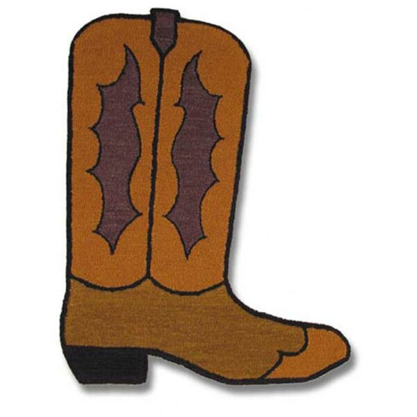 Boot Brown Area Rug by Patch Magic