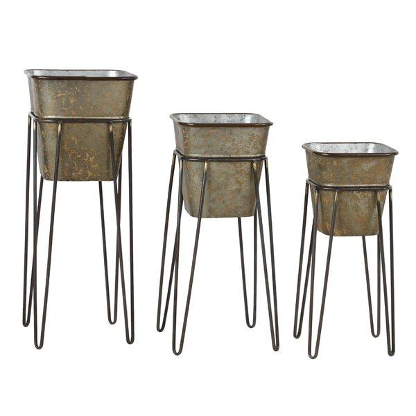 Verville 3-Piece Aluminum Pot Planter Set (Set of 3) by Gracie Oaks