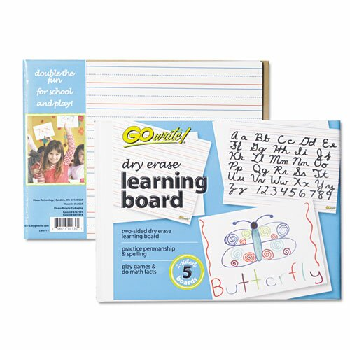 Learning Reversible Wall Mounted Dry Erase Board by Pacon Corporation