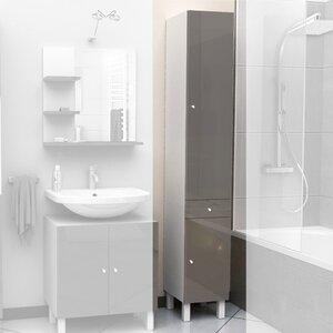 30 x 190cm free standing tall bathroom cabinet