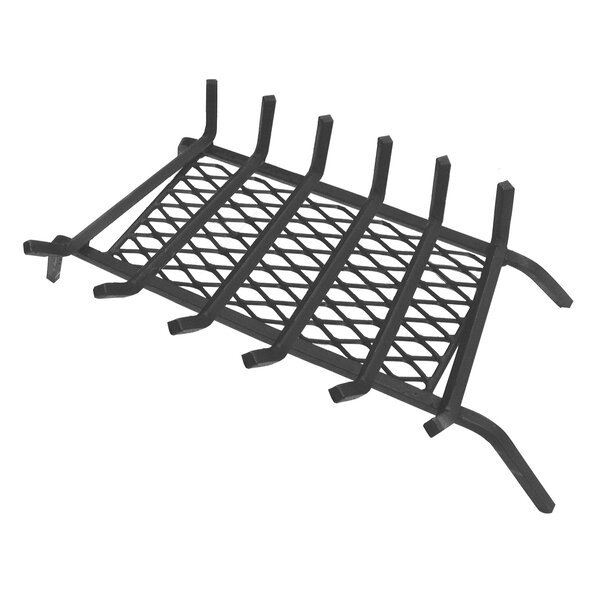 Steel Fireplace Grate with Ember Retainer by Landmann