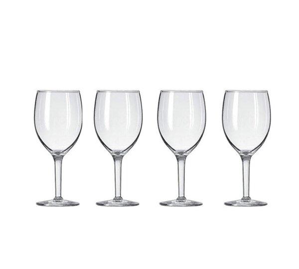 Grundy Plastic 8 oz. Red Wine Glass (Set of 4) by Winston Porter