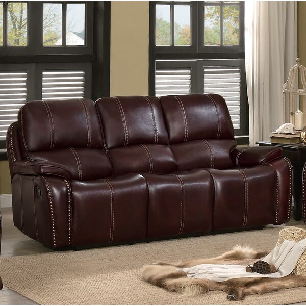 #1 Theo Upholstered Dual Recliner Sofa By Red Barrel Studio Great price