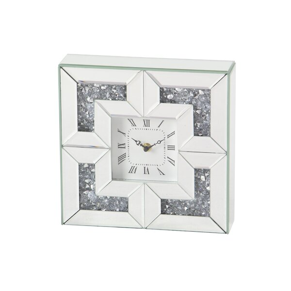 Althoff Modern Square Wood Analog Wall Clock by House of Hampton
