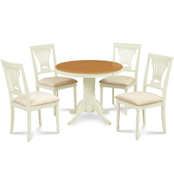 Dahlke 5 Piece Dining Set by August Grove