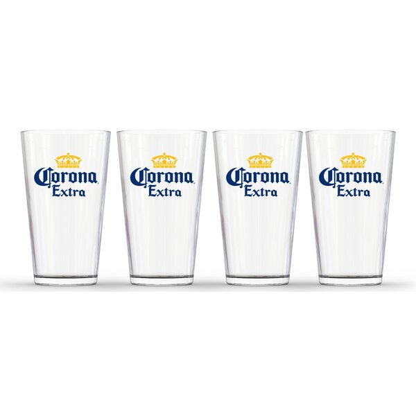 Corona Extra 16 oz. Glass Pint Glass (Set of 4) by PB