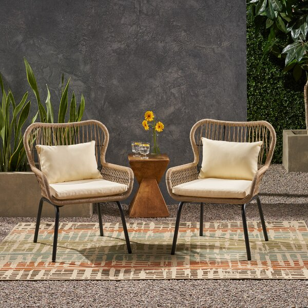 Mcclurg Patio Chair With Cushions (Set Of 2) By Bungalow Rose by Bungalow Rose Spacial Price